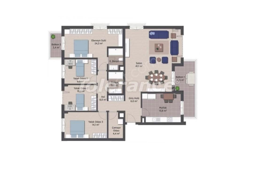 Квартиры класса люкс в Стамбуле в современном комплексе с рассрочкой до 24 месяцев - 24926   Tolerance Homes