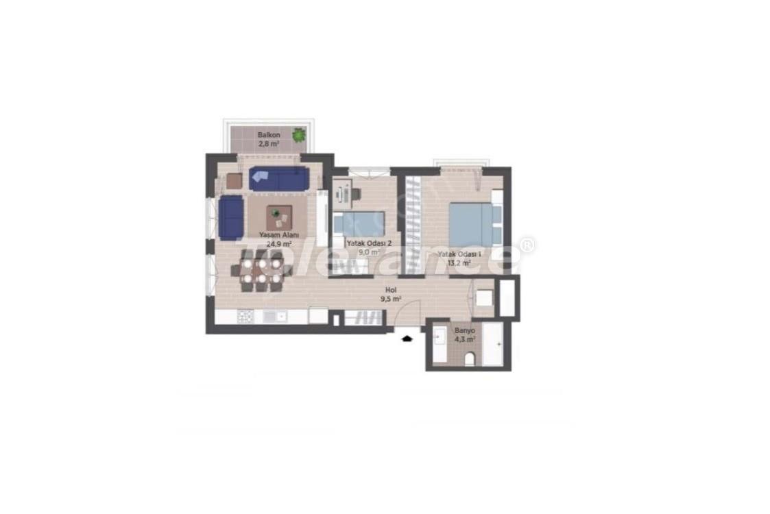 Квартиры класса люкс в Стамбуле в современном комплексе с рассрочкой до 24 месяцев - 24921   Tolerance Homes