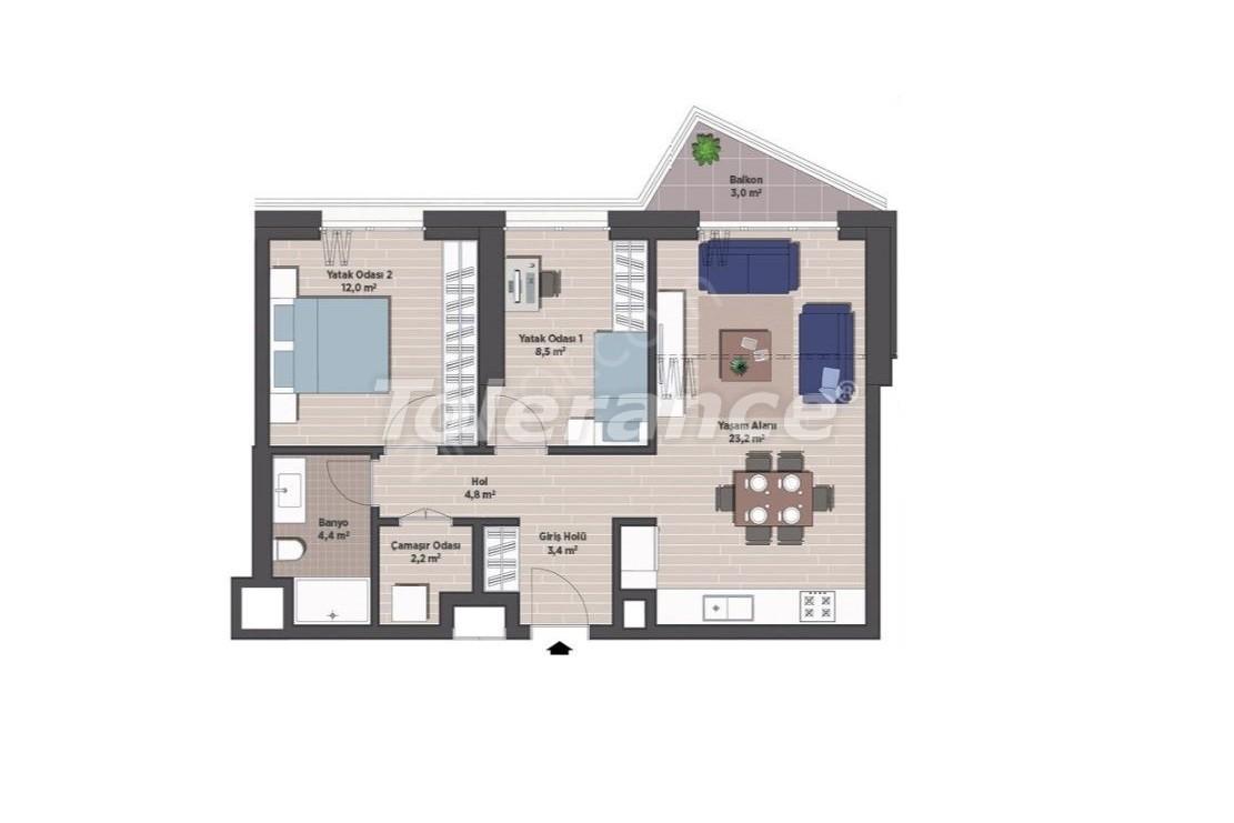 Квартиры класса люкс в Стамбуле в современном комплексе с рассрочкой до 24 месяцев - 24922   Tolerance Homes