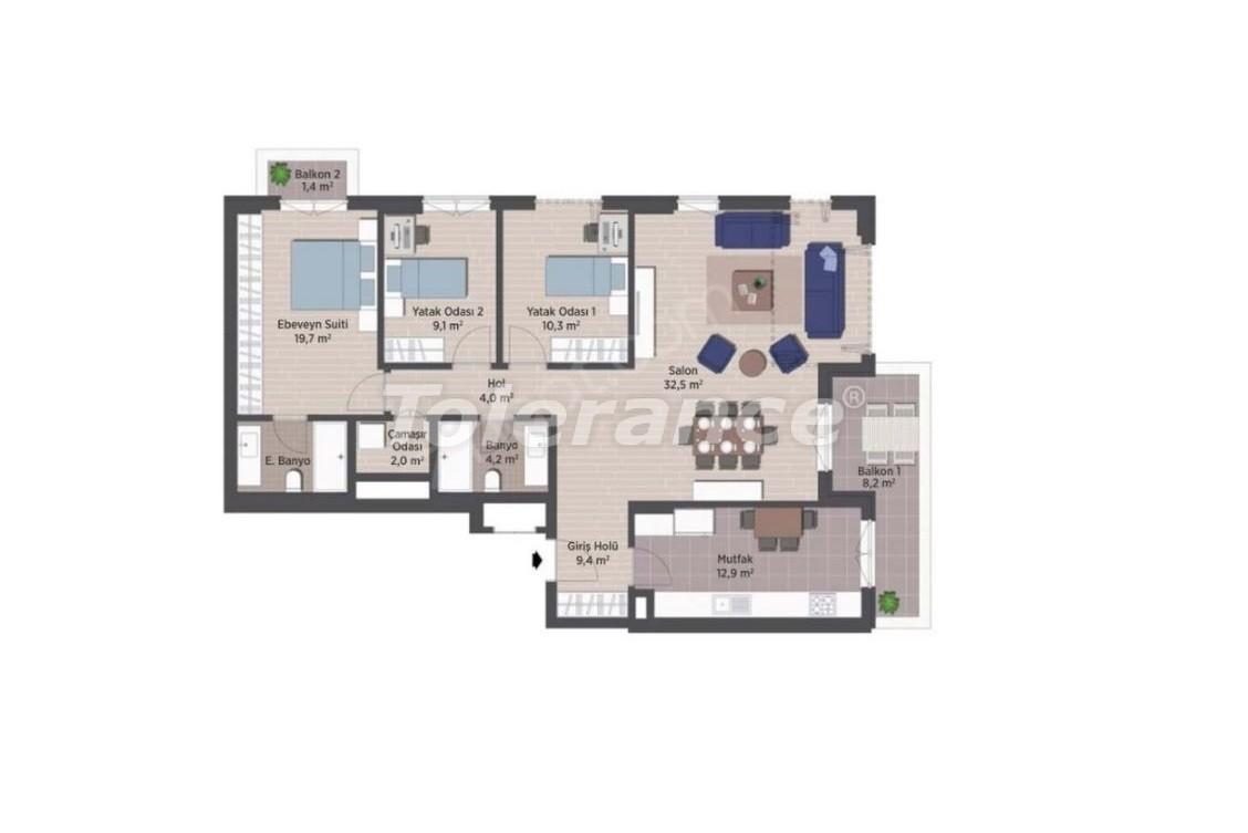 Квартиры класса люкс в Стамбуле в современном комплексе с рассрочкой до 24 месяцев - 24923   Tolerance Homes