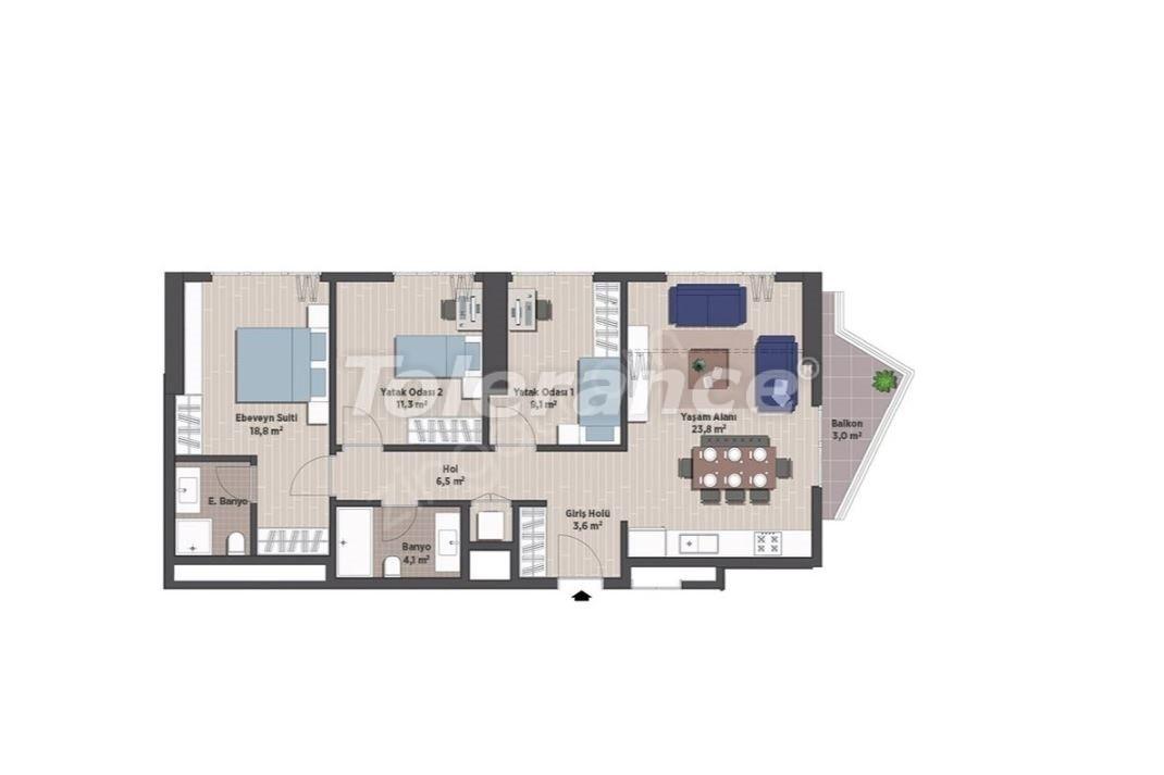 Квартиры класса люкс в Стамбуле в современном комплексе с рассрочкой до 24 месяцев - 24925   Tolerance Homes