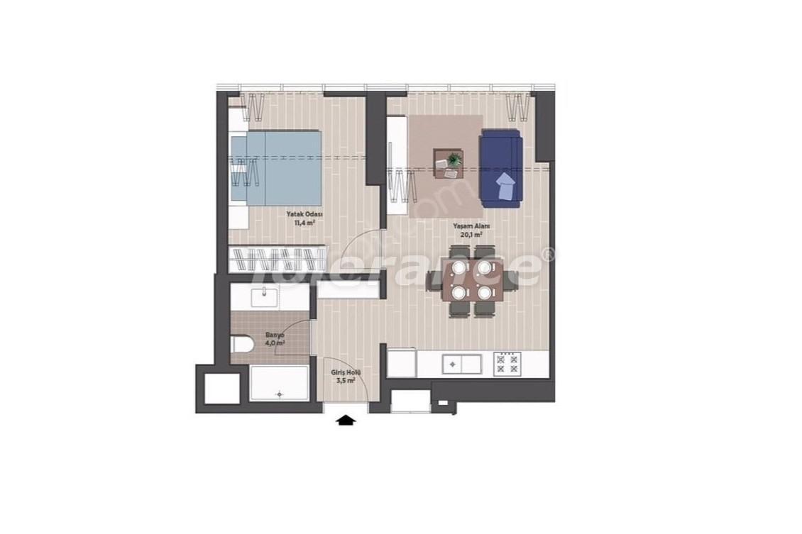 Квартиры класса люкс в Стамбуле в современном комплексе с рассрочкой до 24 месяцев - 24919   Tolerance Homes