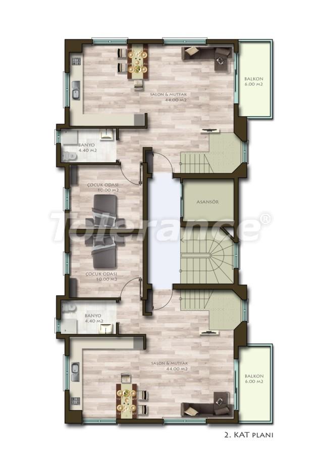 Новые трехкомнатные квартиры в Белеке в комплексе с бассейном - 24536   Tolerance Homes