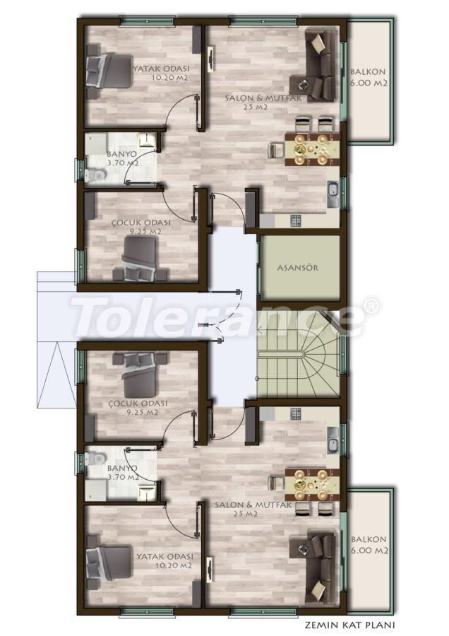 Новые трехкомнатные квартиры в Белеке в комплексе с бассейном - 24537   Tolerance Homes