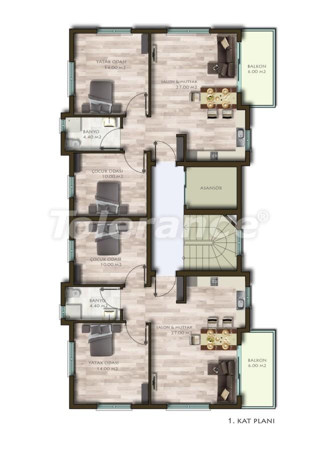 Новые трехкомнатные квартиры в Белеке в комплексе с бассейном - 24538   Tolerance Homes