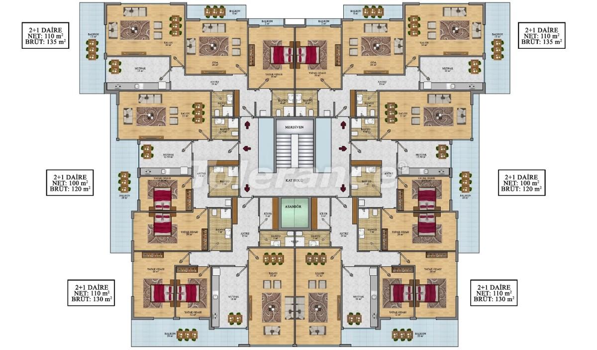 Просторные апартаменты в Алании от застройщика - 24692   Tolerance Homes