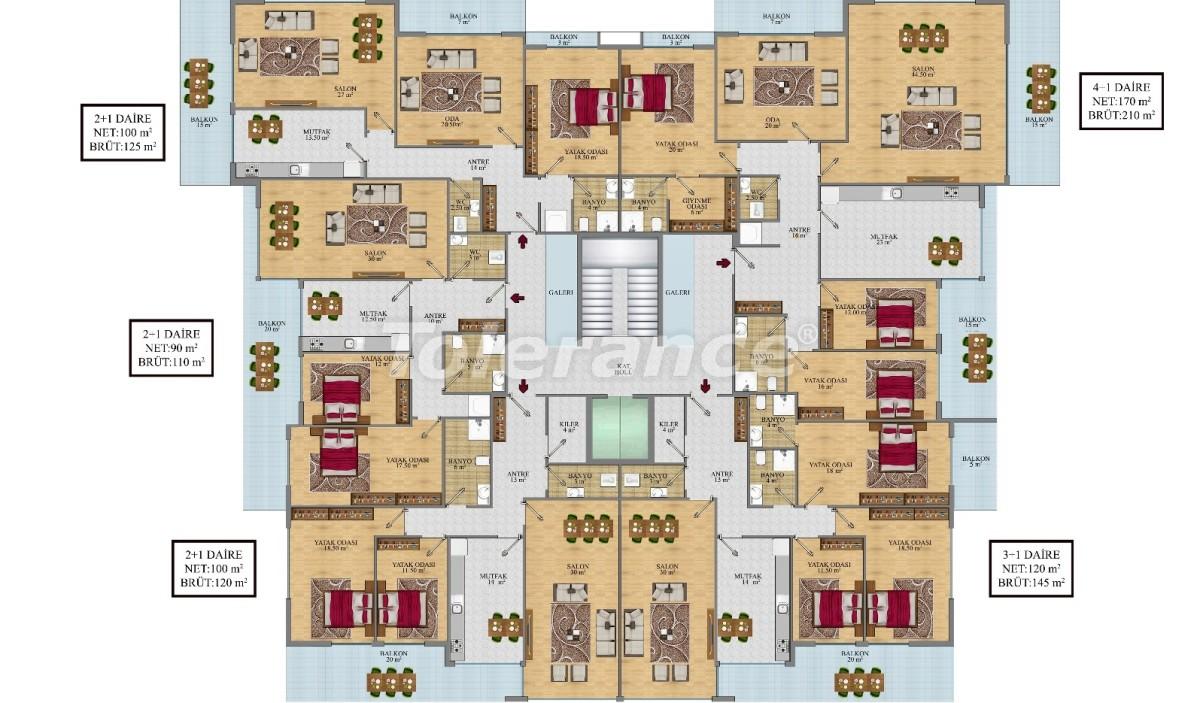 Просторные апартаменты в Алании от застройщика - 24691   Tolerance Homes