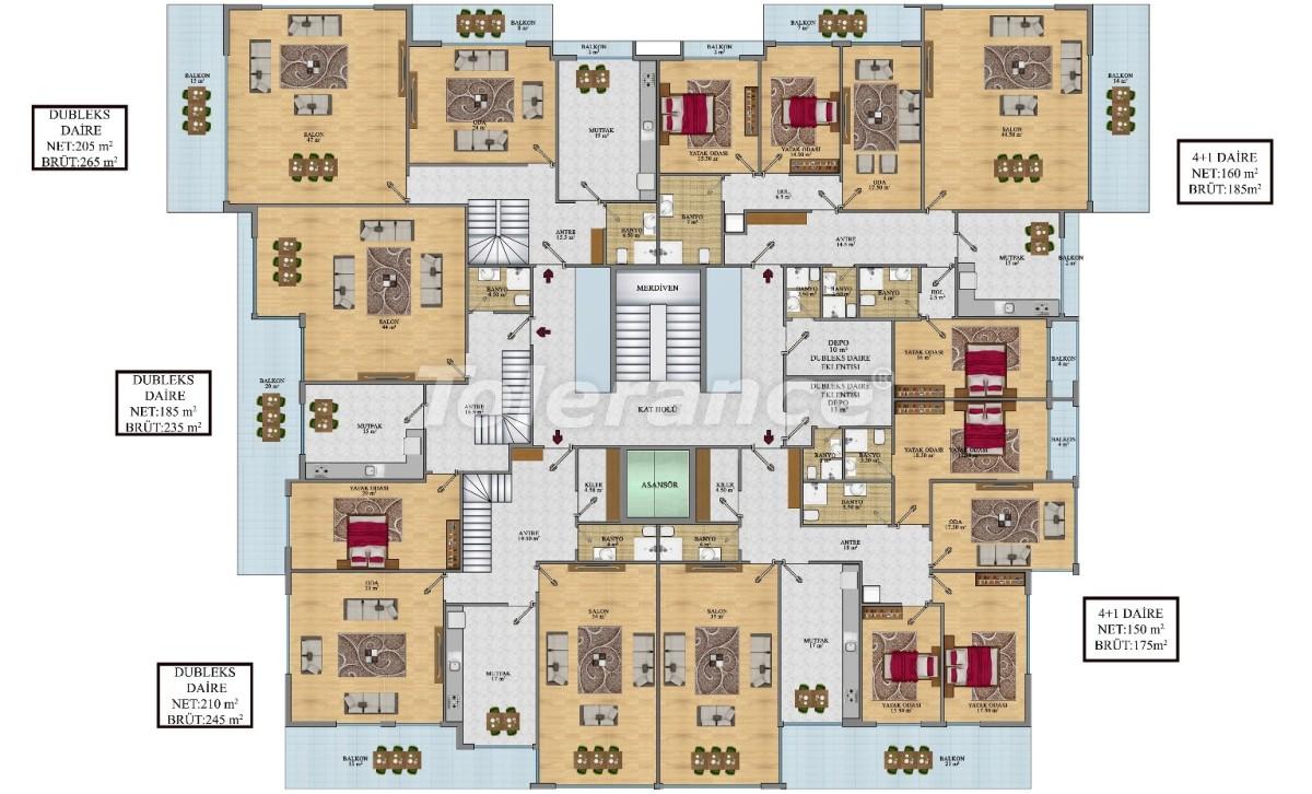 Просторные апартаменты в Алании от застройщика - 24689   Tolerance Homes