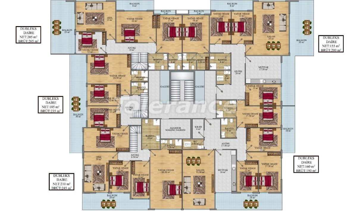 Просторные апартаменты в Алании от застройщика - 24690   Tolerance Homes