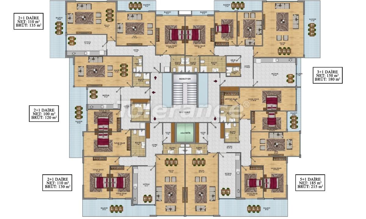 Просторные апартаменты в Алании от застройщика - 24693   Tolerance Homes