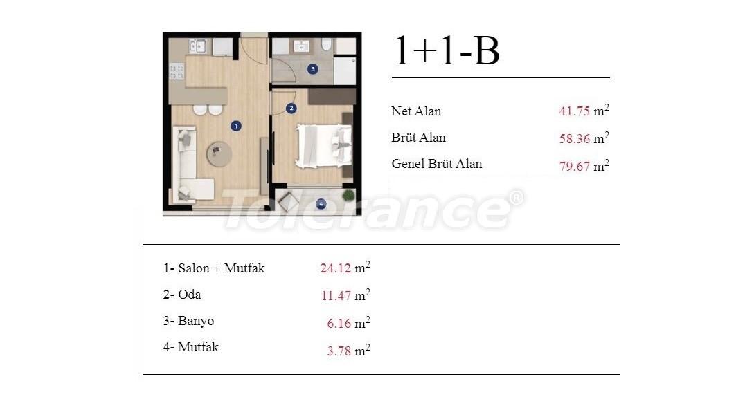 Современные квартиры в Измире от застройщика в элитном комплексе с богатой инфраструктурой - 25197 | Tolerance Homes
