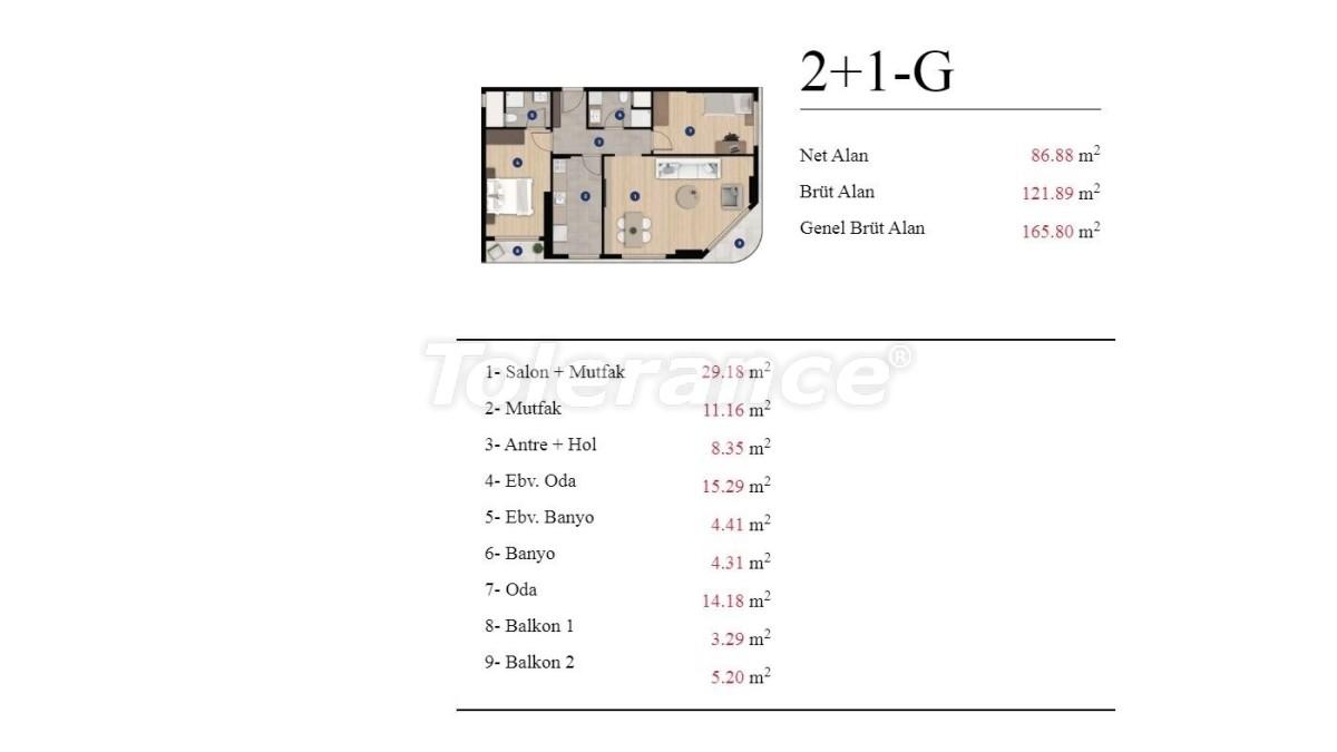 Современные квартиры в Измире от застройщика в элитном комплексе с богатой инфраструктурой - 25199 | Tolerance Homes