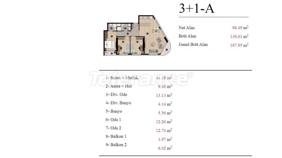 Современные квартиры в Измире от застройщика в элитном комплексе с богатой инфраструктурой - 25200 | Tolerance Homes
