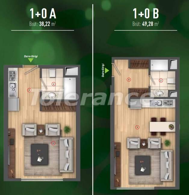 Роскошные квартиры в Бейликдюзю, Стамбул  в современном комплексе с богатой инфраструктурой - 26606 | Tolerance Homes