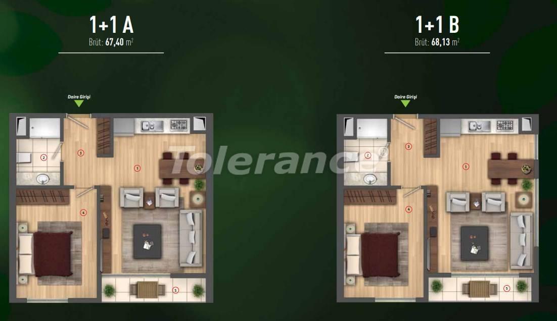 Роскошные квартиры в Бейликдюзю, Стамбул  в современном комплексе с богатой инфраструктурой - 26607 | Tolerance Homes