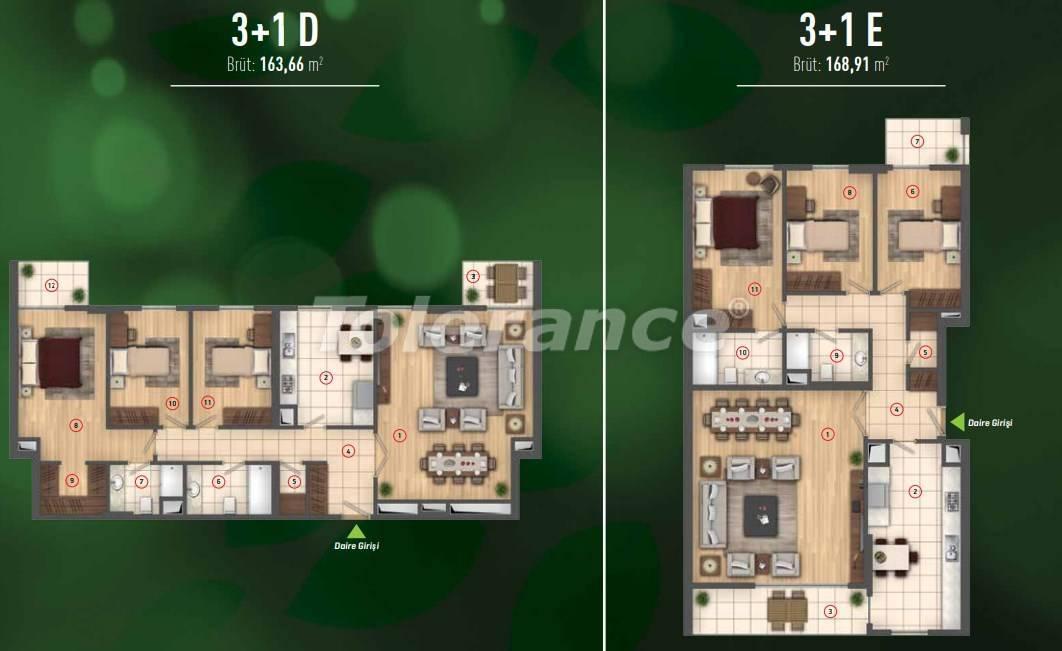 Роскошные квартиры в Бейликдюзю, Стамбул  в современном комплексе с богатой инфраструктурой - 26610 | Tolerance Homes