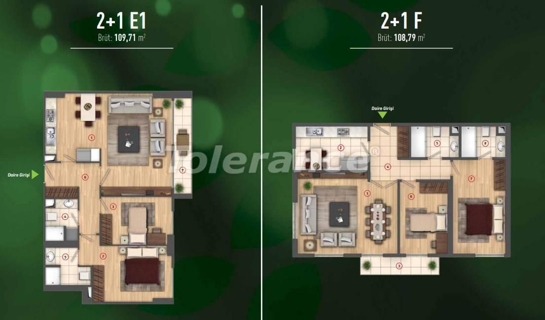Роскошные квартиры в Бейликдюзю, Стамбул  в современном комплексе с богатой инфраструктурой - 26608 | Tolerance Homes