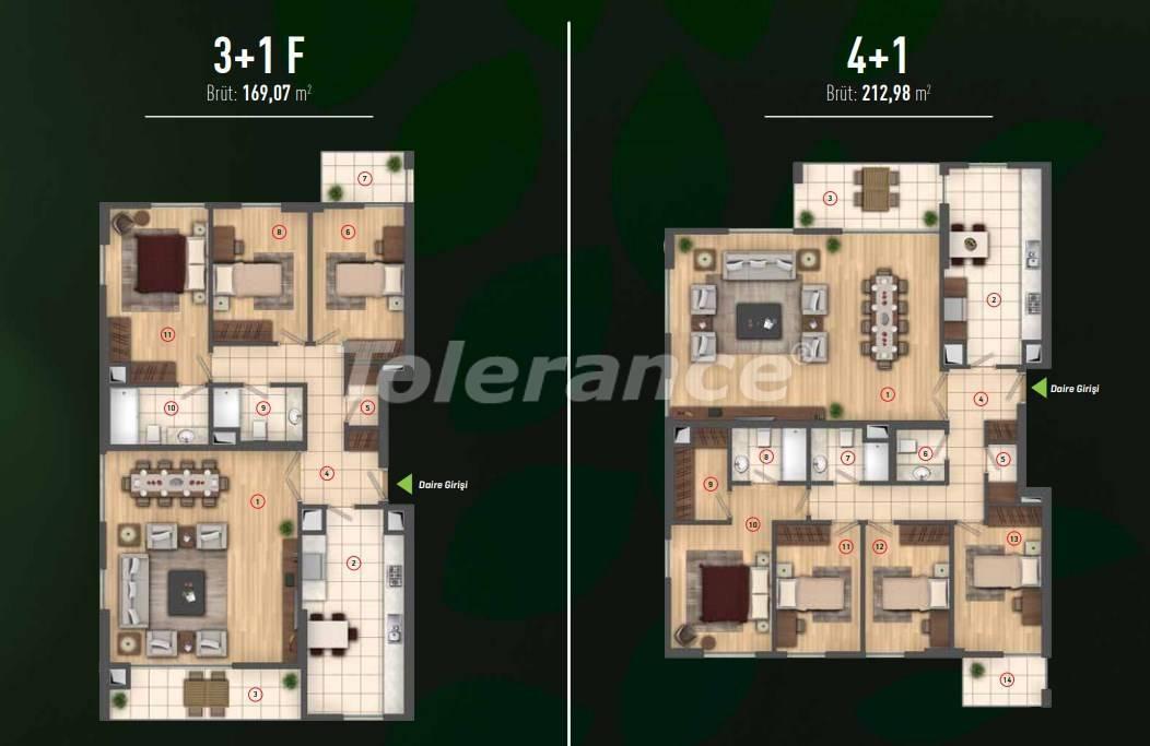 Роскошные квартиры в Бейликдюзю, Стамбул  в современном комплексе с богатой инфраструктурой - 26609 | Tolerance Homes