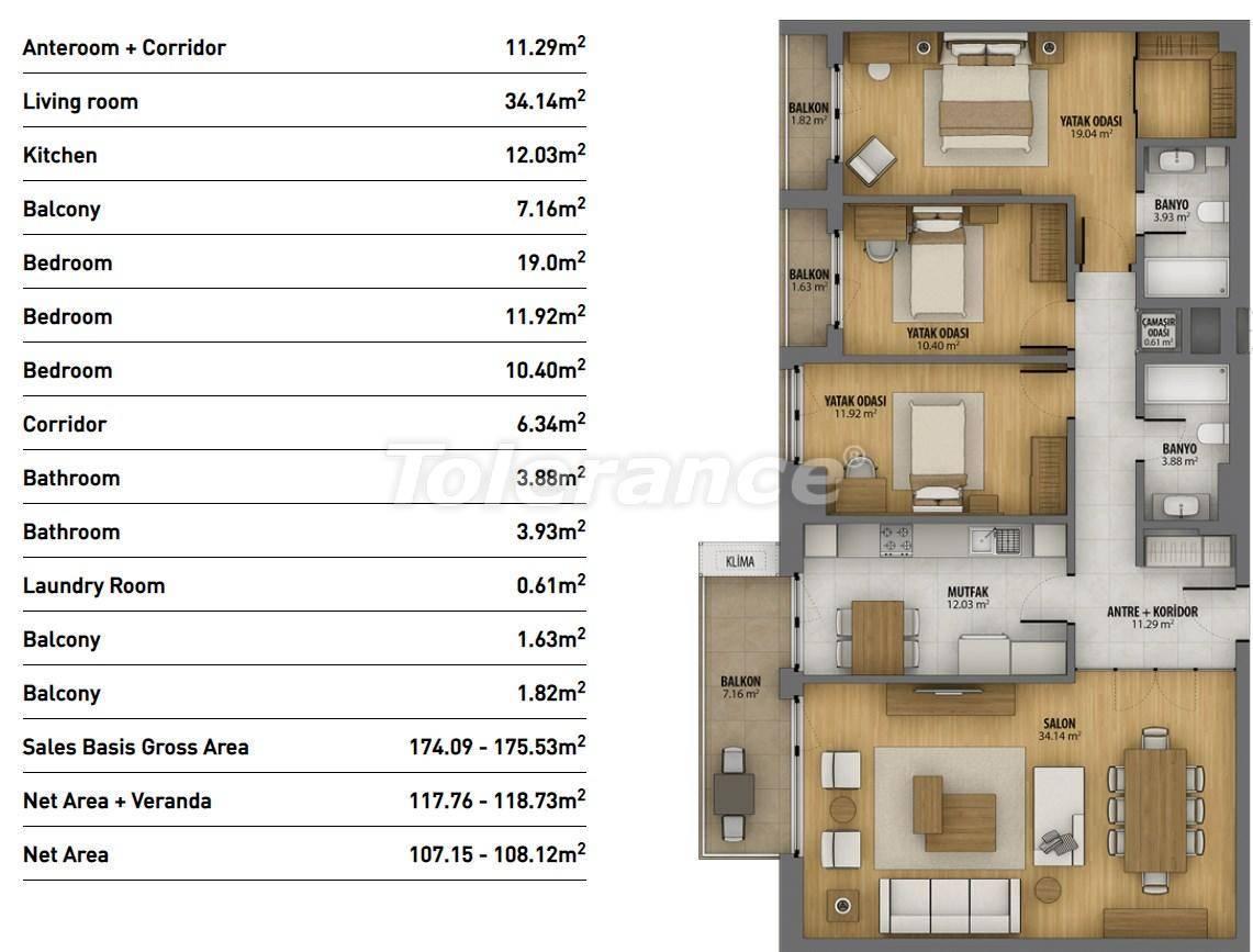 Современные квартиры в Стамбуле в комплексе с богатой инфраструктурой и видом на море - 26942 | Tolerance Homes