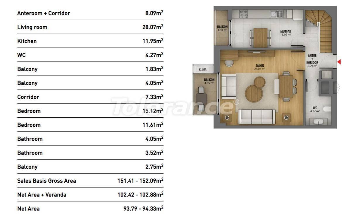 Современные квартиры в Стамбуле в комплексе с богатой инфраструктурой и видом на море - 26940 | Tolerance Homes