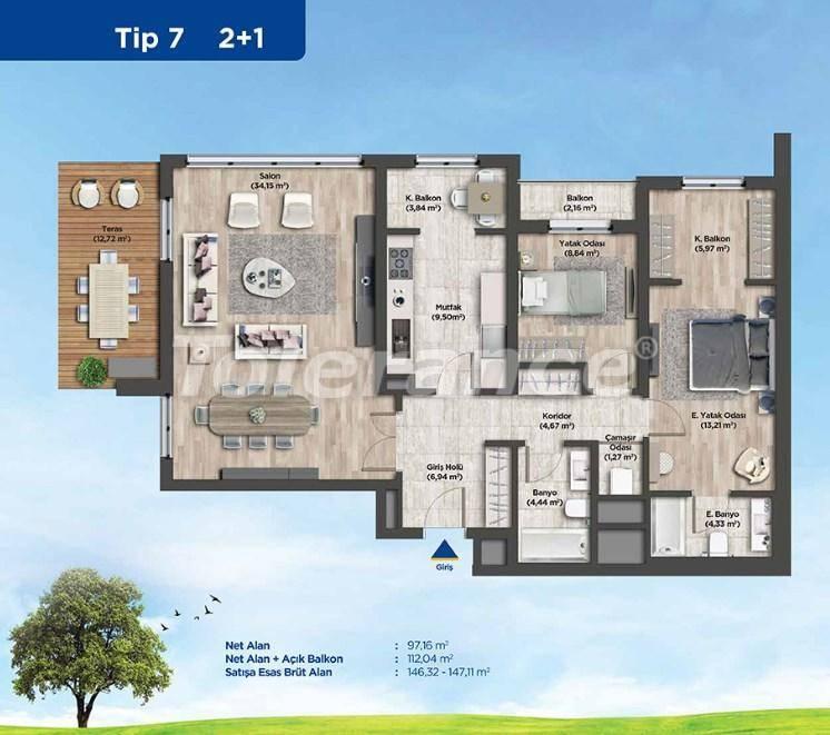 Квартиры в Стамбуле от застройщика в выгодном для инвестиций проекте - 26987 | Tolerance Homes