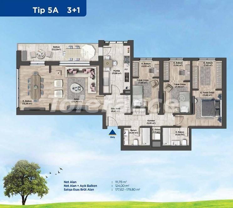 Квартиры в Стамбуле от застройщика в выгодном для инвестиций проекте - 26988 | Tolerance Homes