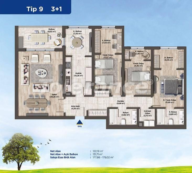 Квартиры в Стамбуле от застройщика в выгодном для инвестиций проекте - 26989   Tolerance Homes