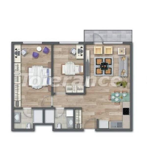 Современные квартиры в Стамбуле в шикарном комплексе, с рассрочкой от застройщика - 27013 | Tolerance Homes