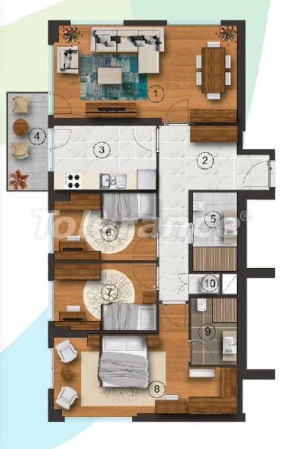 Квартиры в Стамбуле с отдельной кухней, с рассрочкой от застройщика - 27094 | Tolerance Homes