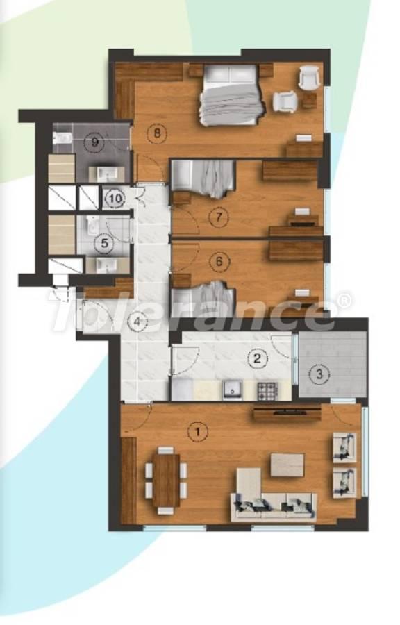 Квартиры в Стамбуле с отдельной кухней, с рассрочкой от застройщика - 27093 | Tolerance Homes