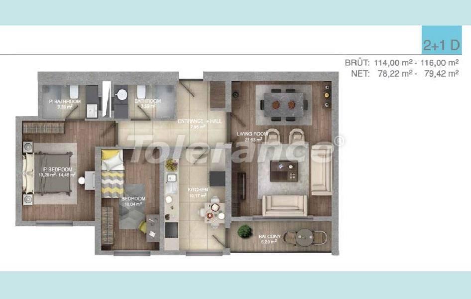 Просторные квартиры в Стамбуле в комплексе с крытым бассейном - 27099 | Tolerance Homes