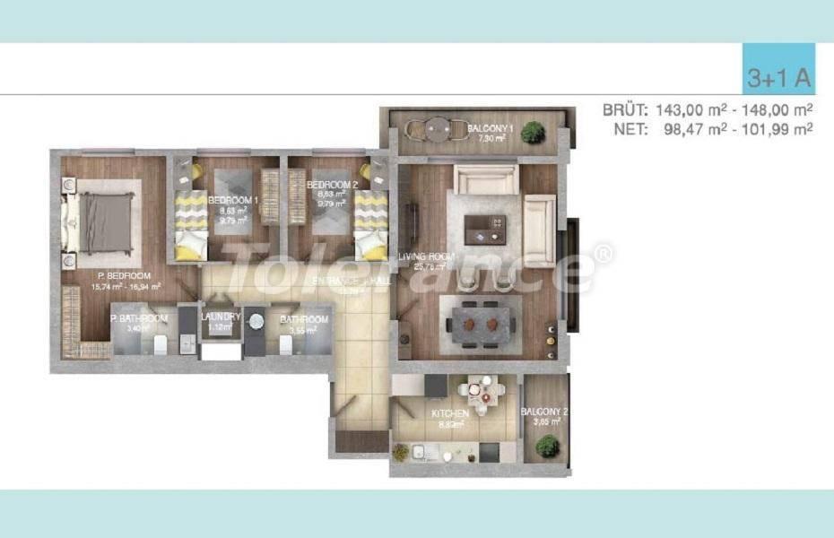 Просторные квартиры в Стамбуле в комплексе с крытым бассейном - 27100 | Tolerance Homes