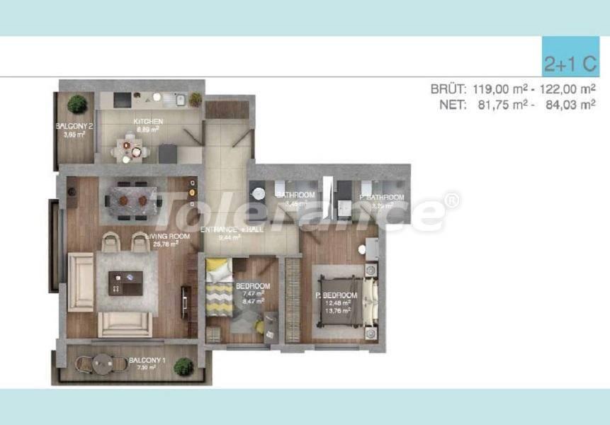 Просторные квартиры в Стамбуле в комплексе с крытым бассейном - 27098 | Tolerance Homes