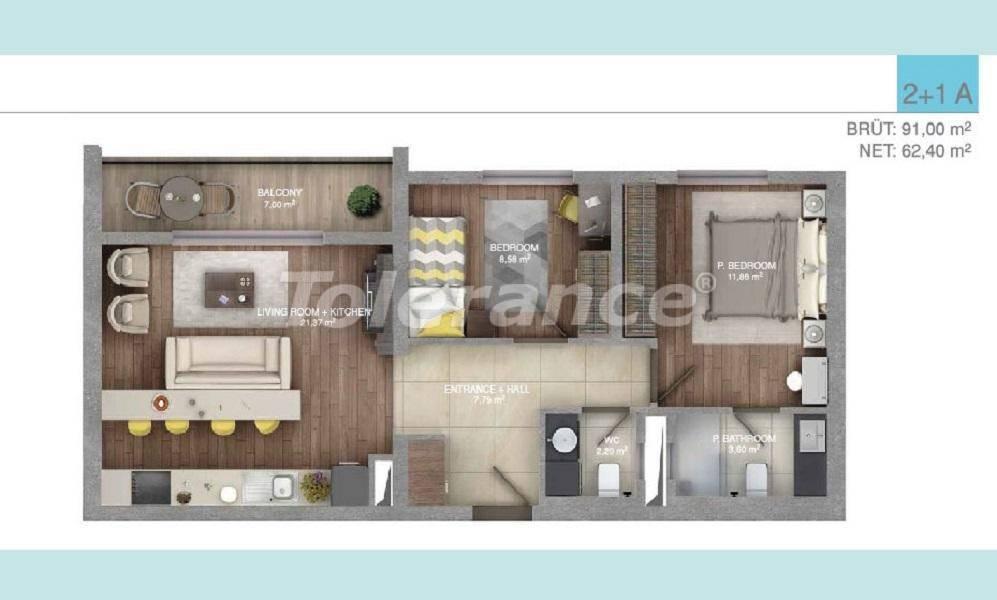 Просторные квартиры в Стамбуле в комплексе с крытым бассейном - 27096 | Tolerance Homes