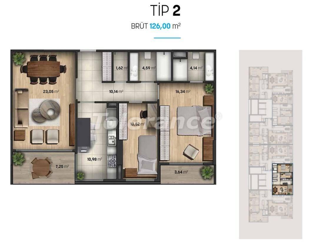 Шикарные квартиры в Стамбуле в современном комплексе с видом на море - 27112 | Tolerance Homes