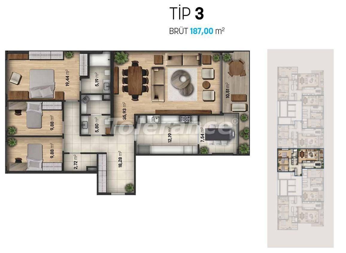Шикарные квартиры в Стамбуле в современном комплексе с видом на море - 27111   Tolerance Homes