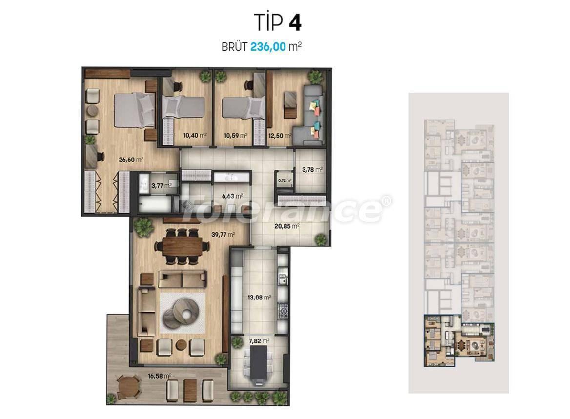 Шикарные квартиры в Стамбуле в современном комплексе с видом на море - 27113   Tolerance Homes