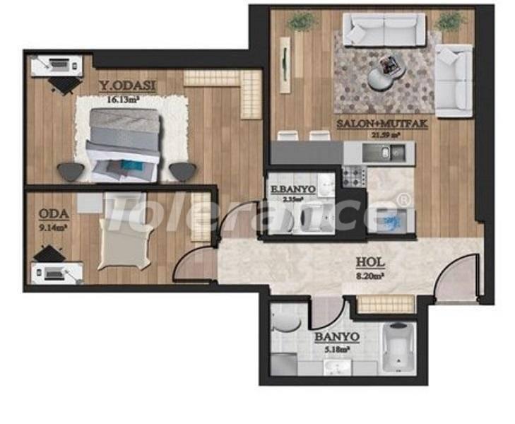 Инвестиционный проект: недорогие квартиры в Стамбуле с видом на море - 27129   Tolerance Homes