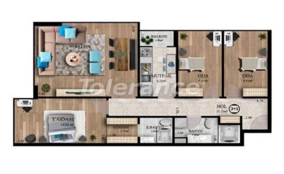 Инвестиционный проект: недорогие квартиры в Стамбуле с видом на море - 27130   Tolerance Homes