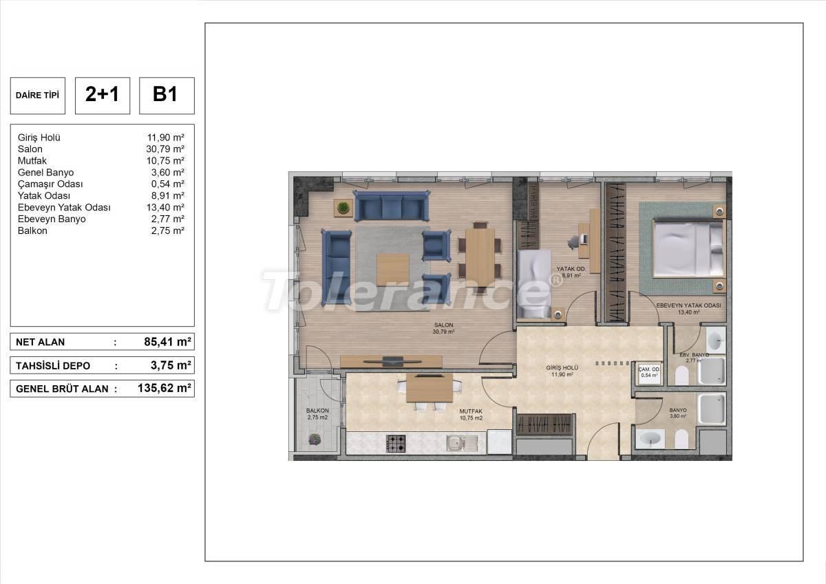 Высококачественные квартиры в Стамбуле с рассрочкой и гарантией аренды на 3 года - 31970 | Tolerance Homes