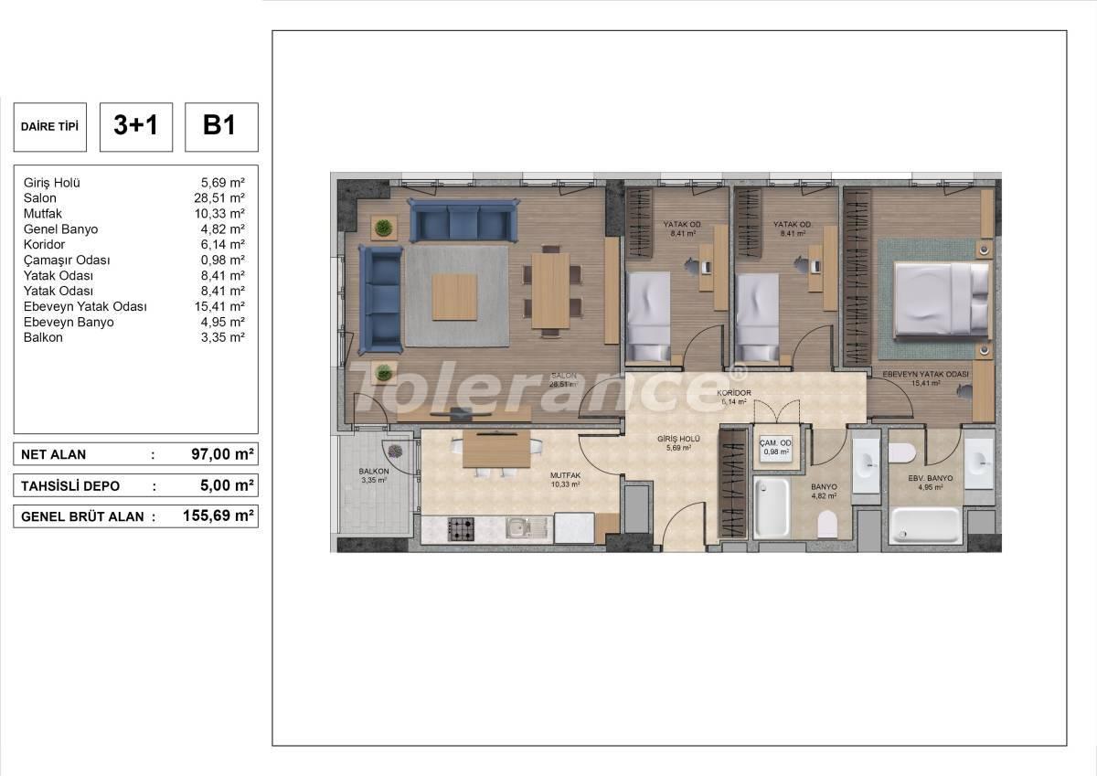 Высококачественные квартиры в Стамбуле с рассрочкой и гарантией аренды на 3 года - 31977 | Tolerance Homes