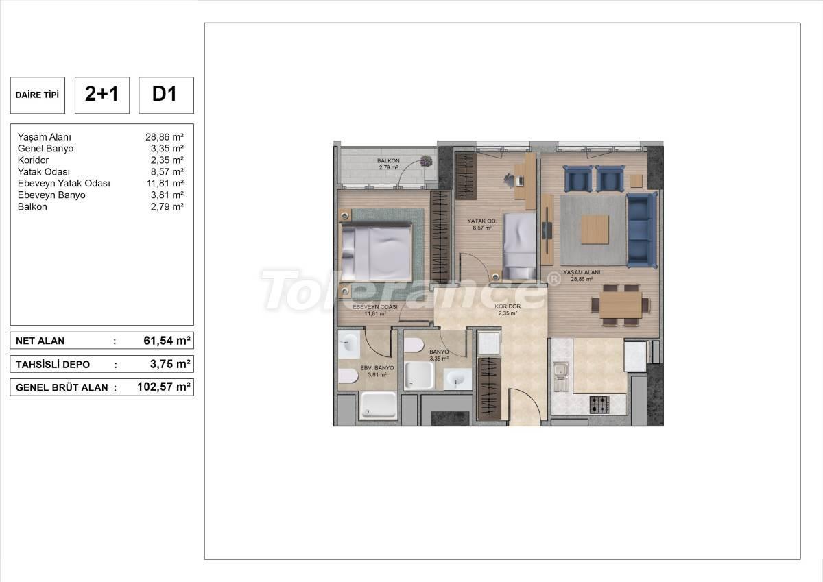 Высококачественные квартиры в Стамбуле с рассрочкой и гарантией аренды на 3 года - 31973 | Tolerance Homes