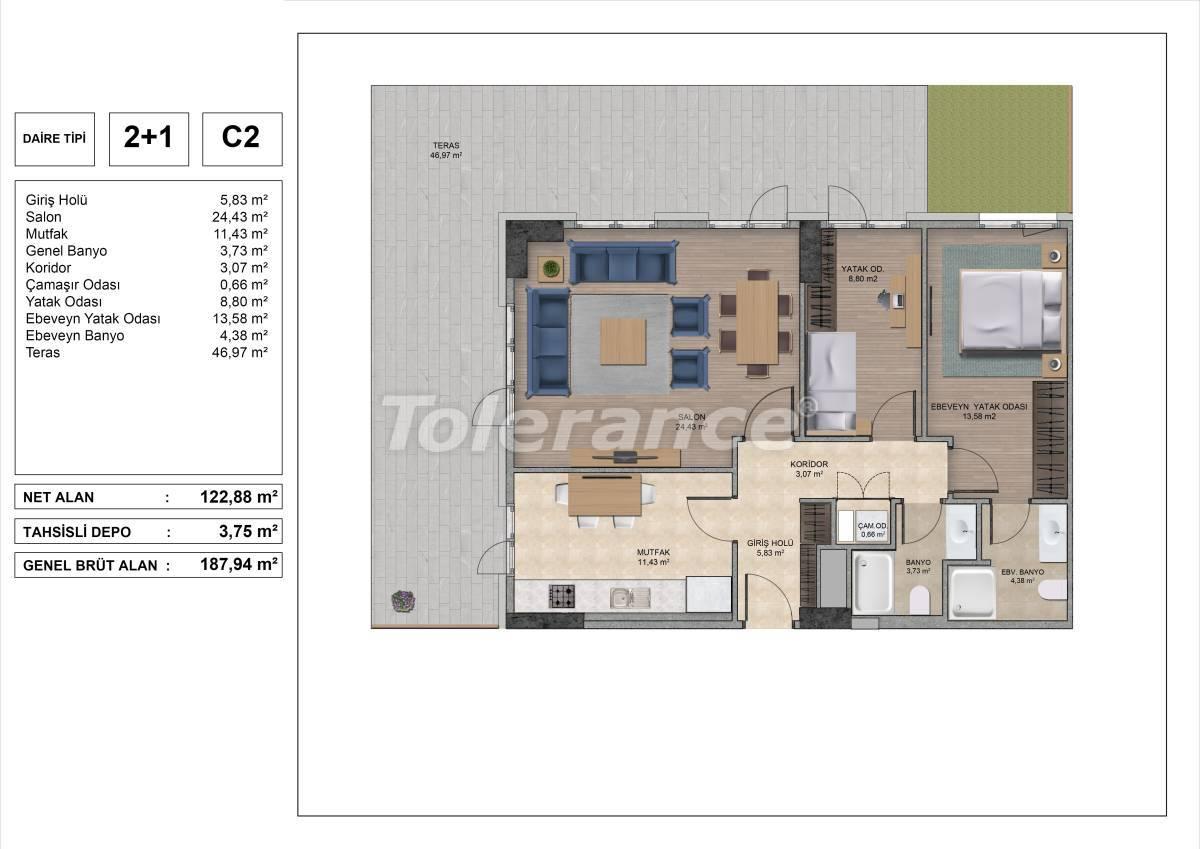 Высококачественные квартиры в Стамбуле с рассрочкой и гарантией аренды на 3 года - 31972 | Tolerance Homes