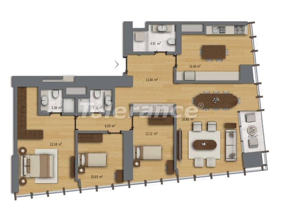 Современные квартиры в Шишли, Стамбул в комплексе с богатой инфраструктурой с рассрочкой от застройщика - 27193 | Tolerance Homes
