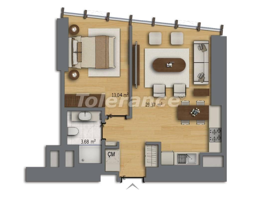 Современные квартиры в Шишли, Стамбул в комплексе с богатой инфраструктурой с рассрочкой от застройщика - 27188 | Tolerance Homes