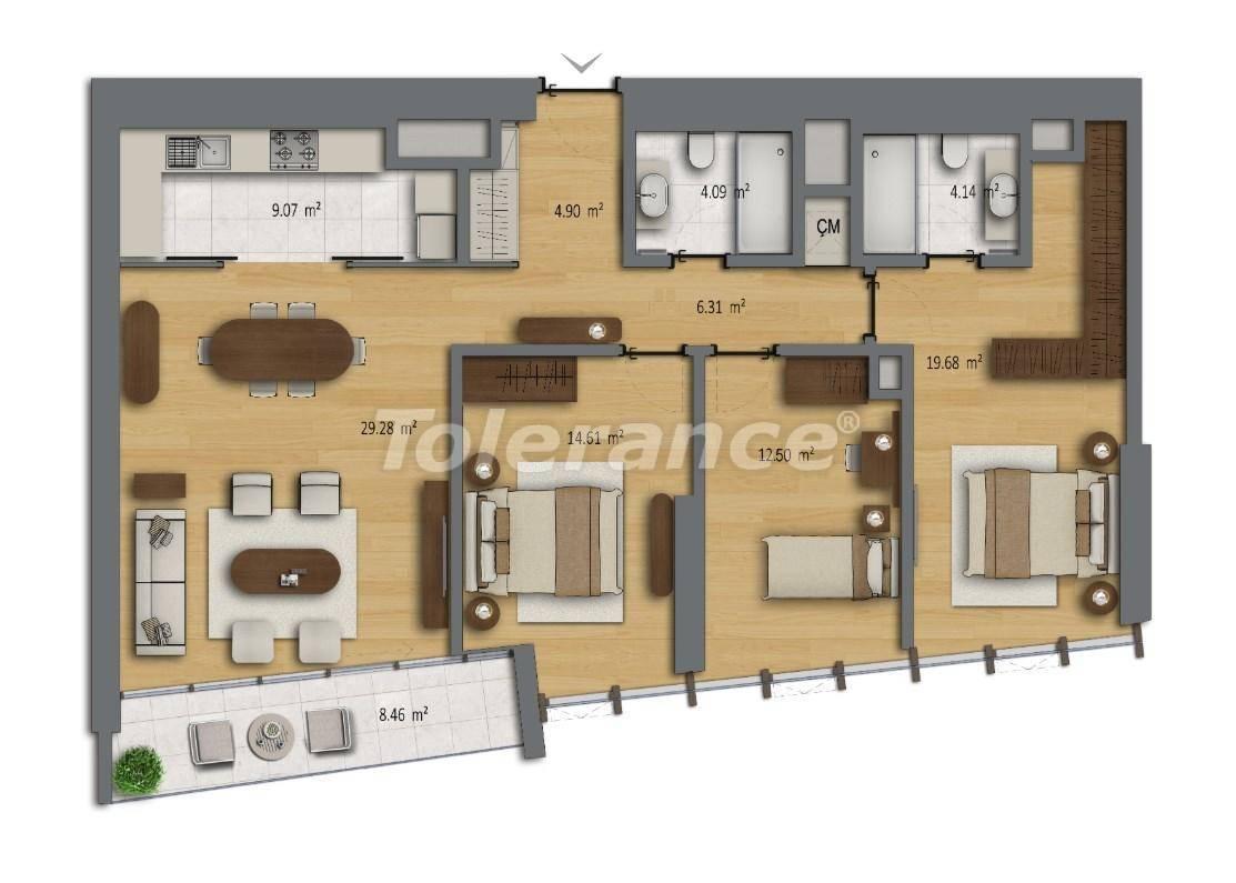 Современные квартиры в Шишли, Стамбул в комплексе с богатой инфраструктурой с рассрочкой от застройщика - 27191 | Tolerance Homes