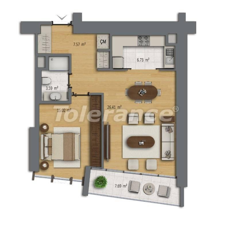Современные квартиры в Шишли, Стамбул в комплексе с богатой инфраструктурой с рассрочкой от застройщика - 27187 | Tolerance Homes