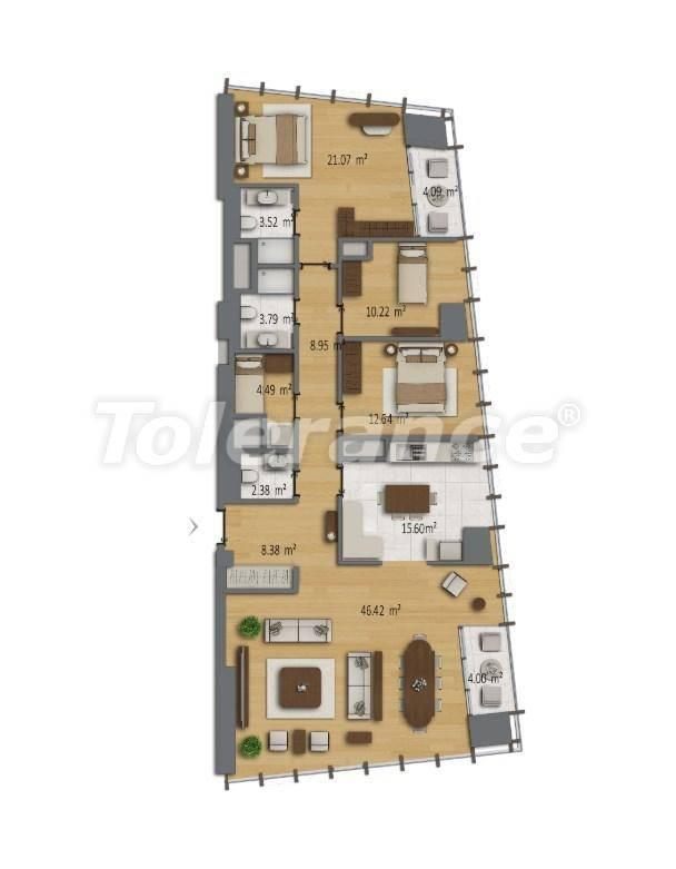 Современные квартиры в Шишли, Стамбул в комплексе с богатой инфраструктурой с рассрочкой от застройщика - 27192 | Tolerance Homes