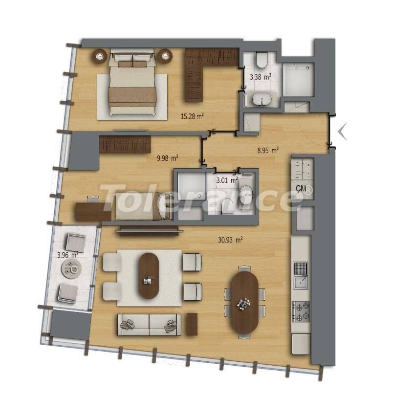 Современные квартиры в Шишли, Стамбул в комплексе с богатой инфраструктурой с рассрочкой от застройщика - 27190 | Tolerance Homes