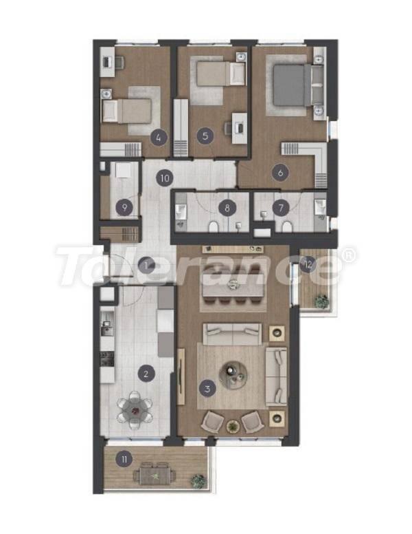 Шикарные просторные квартиры в Стамбуле от застройщика - 27287 | Tolerance Homes
